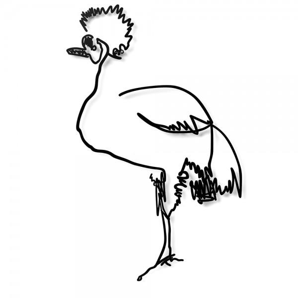 Wanetik Art - Crowned Crane