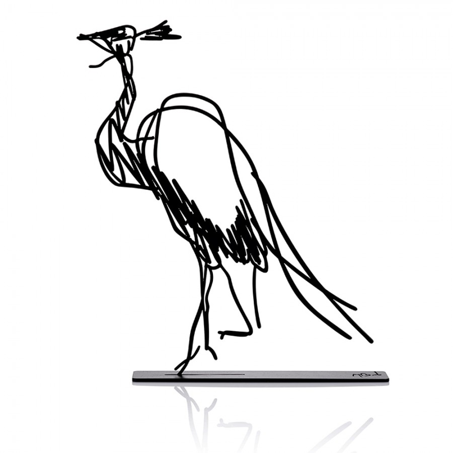 Wanetik Art - Demoiselle Crane