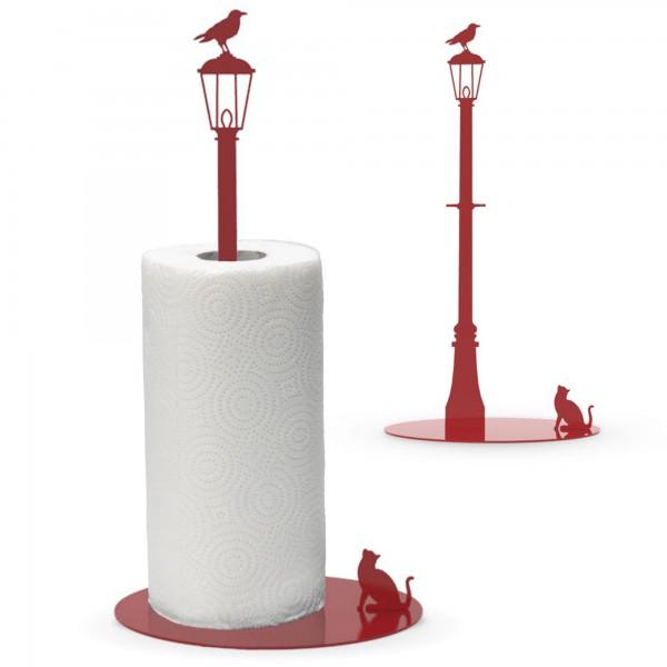 Cat Vs. Crow - Paper Towel Holder - Red