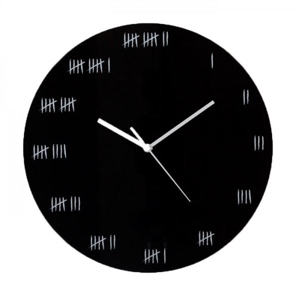 Alcatraz Wall Clock - Black