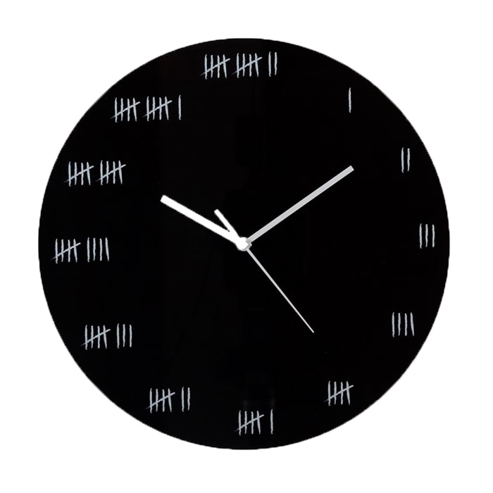 Alcatraz Wall Clock - Black