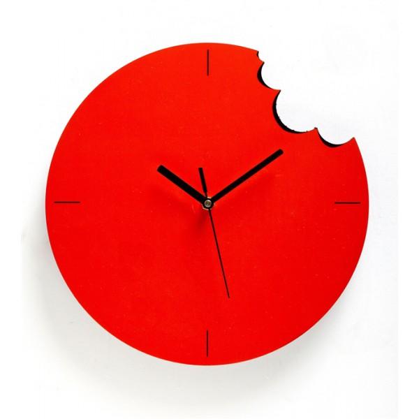 Bite Wall Clock - Orange