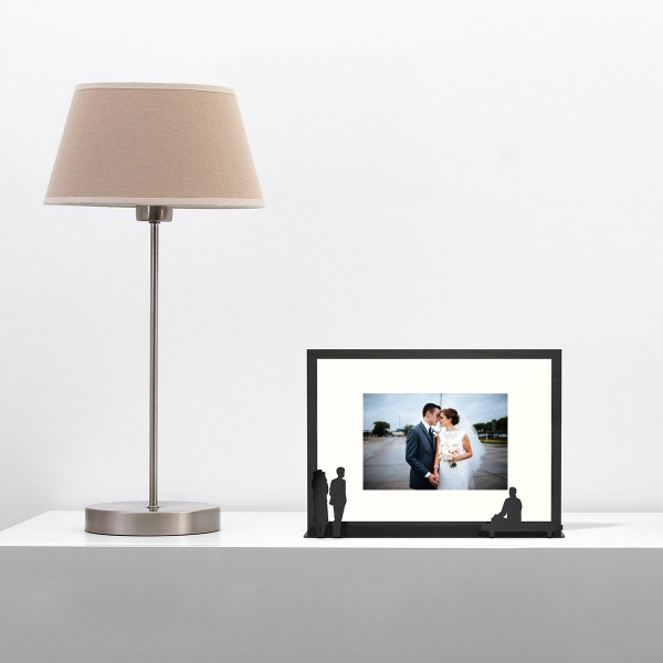 """""""Work of Art"""" - Photo Frame - a couple and a bench"""