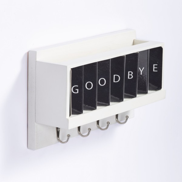 Greetings - Interactive Wooden Key Shelf for the house entryway