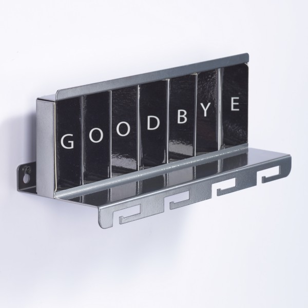 Greetings - Interactive Metal Key Shelf for the house entryway
