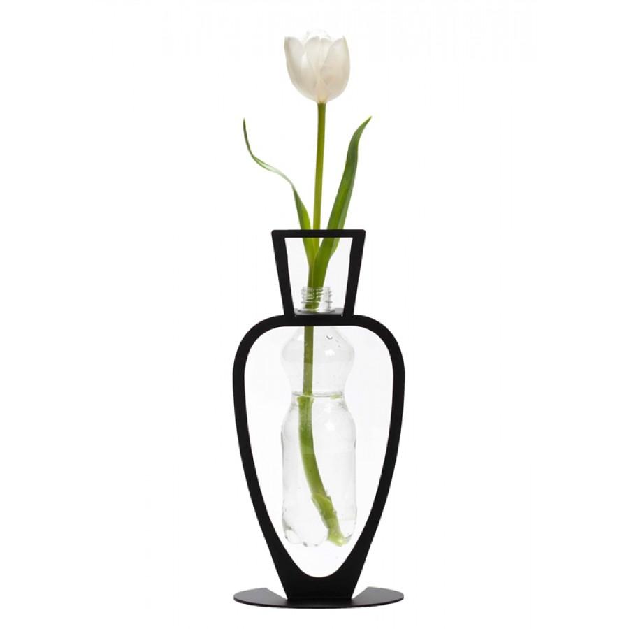Primavera Bottle Vase - Black