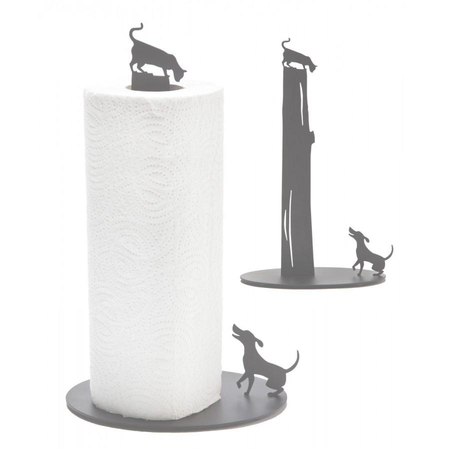 Dog Vs. Cat - Kitchen Paper Towel Holder - Light Grey by artoridesign