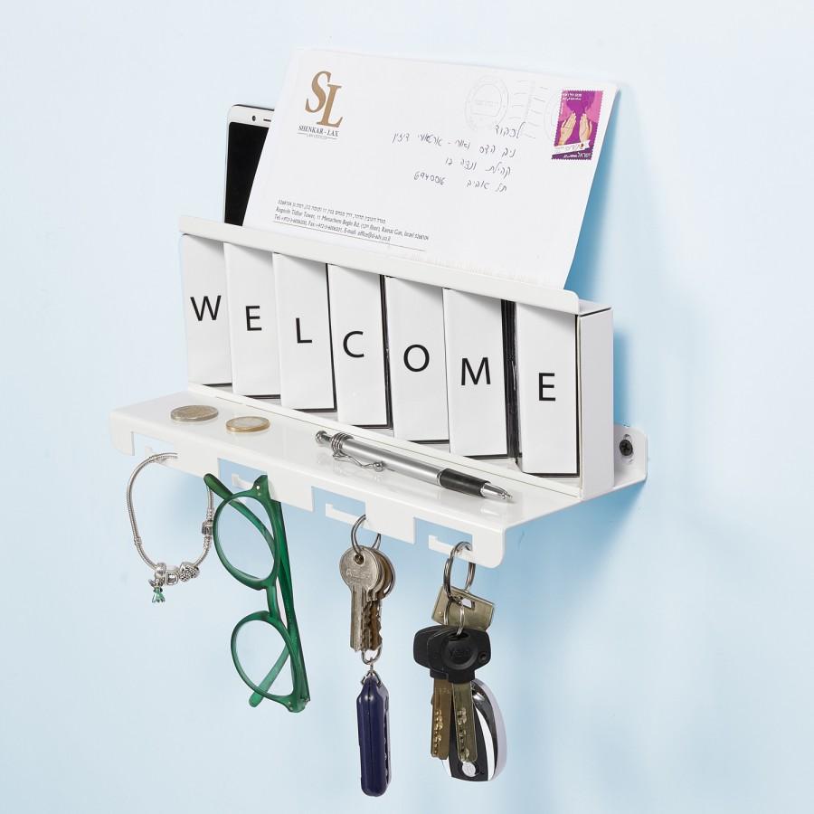 Greetings Metal White by Artori Design