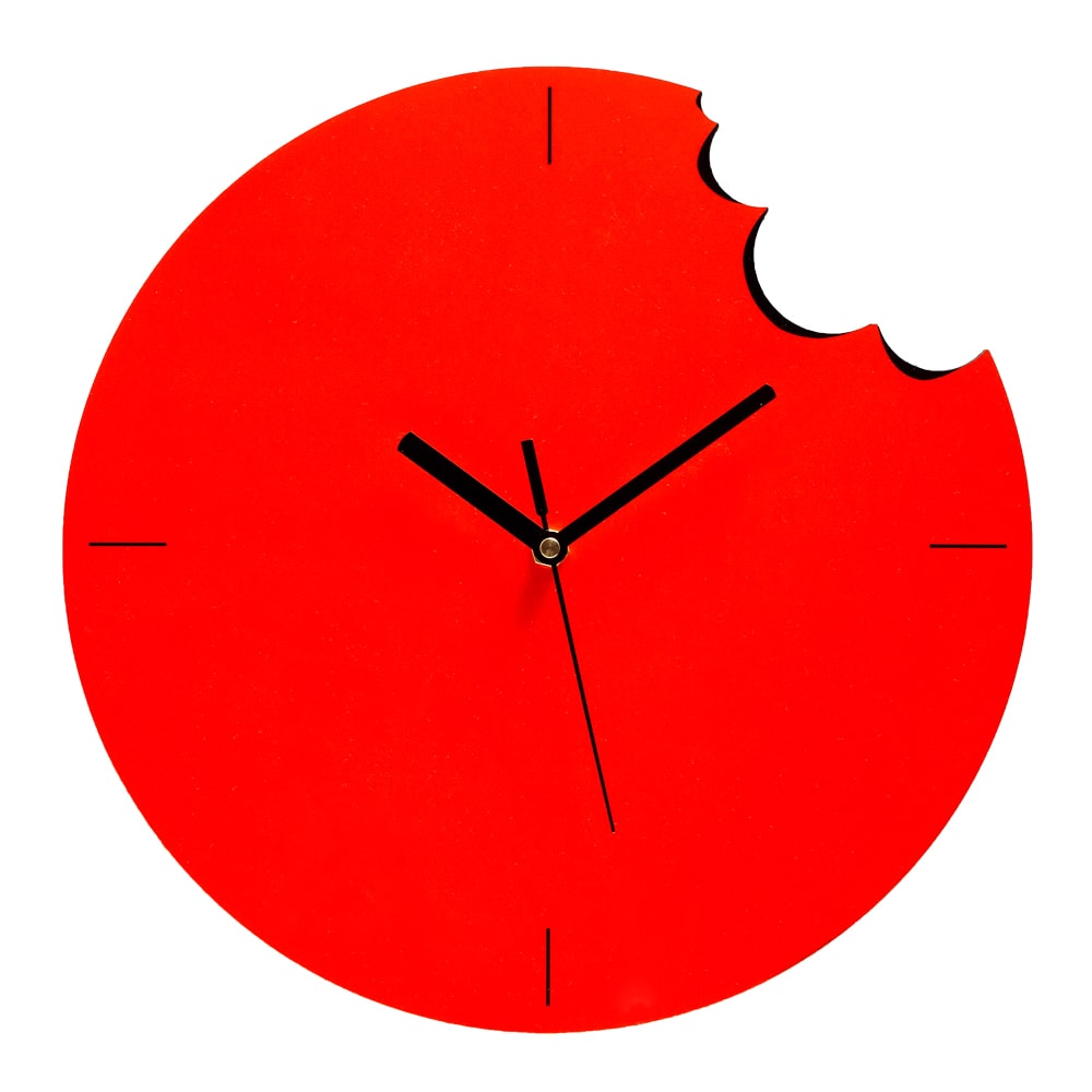 Bite Wall Clock - Orange