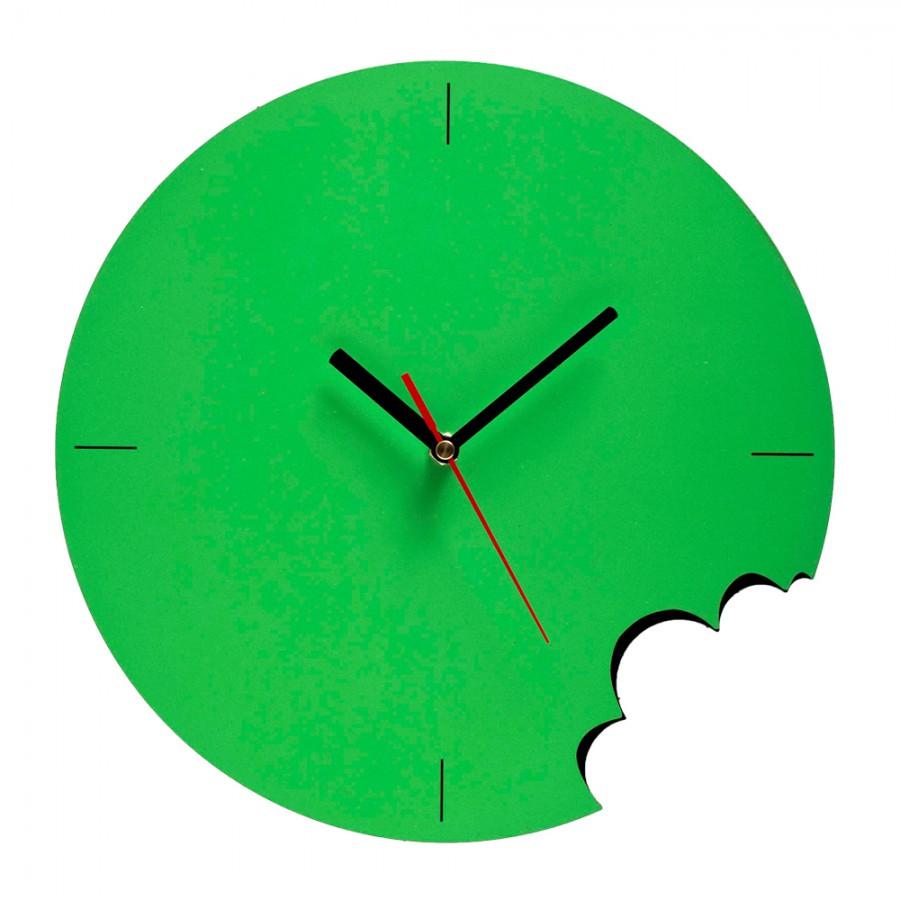 Bite Wall Clock - Green