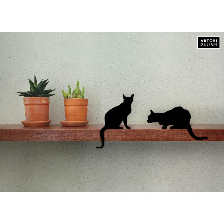 Cat's Meow - Diva + Churchill - a pair of decorative cat silhouette by Artori Design