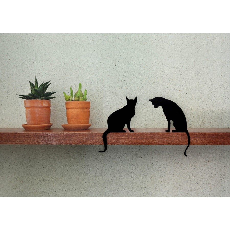 Cat's Meow - Diva + Princess - a pair of decorative cat silhouette by Artori Design