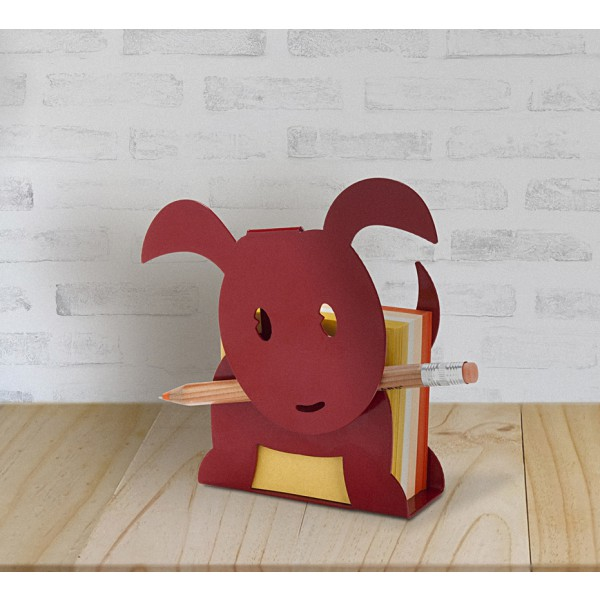 Ringo Puppy Memo Paper Holder - Red by artoridesign