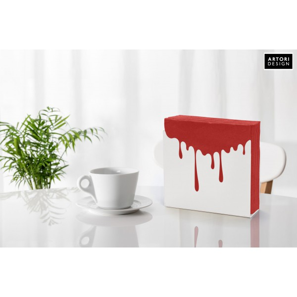 Dripping Napkin Holder - White by artoridesign