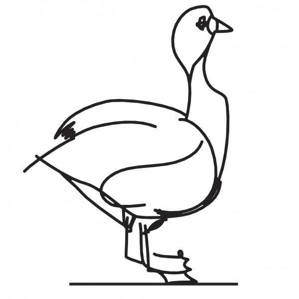 Wanetik Art - Goose Sculpture