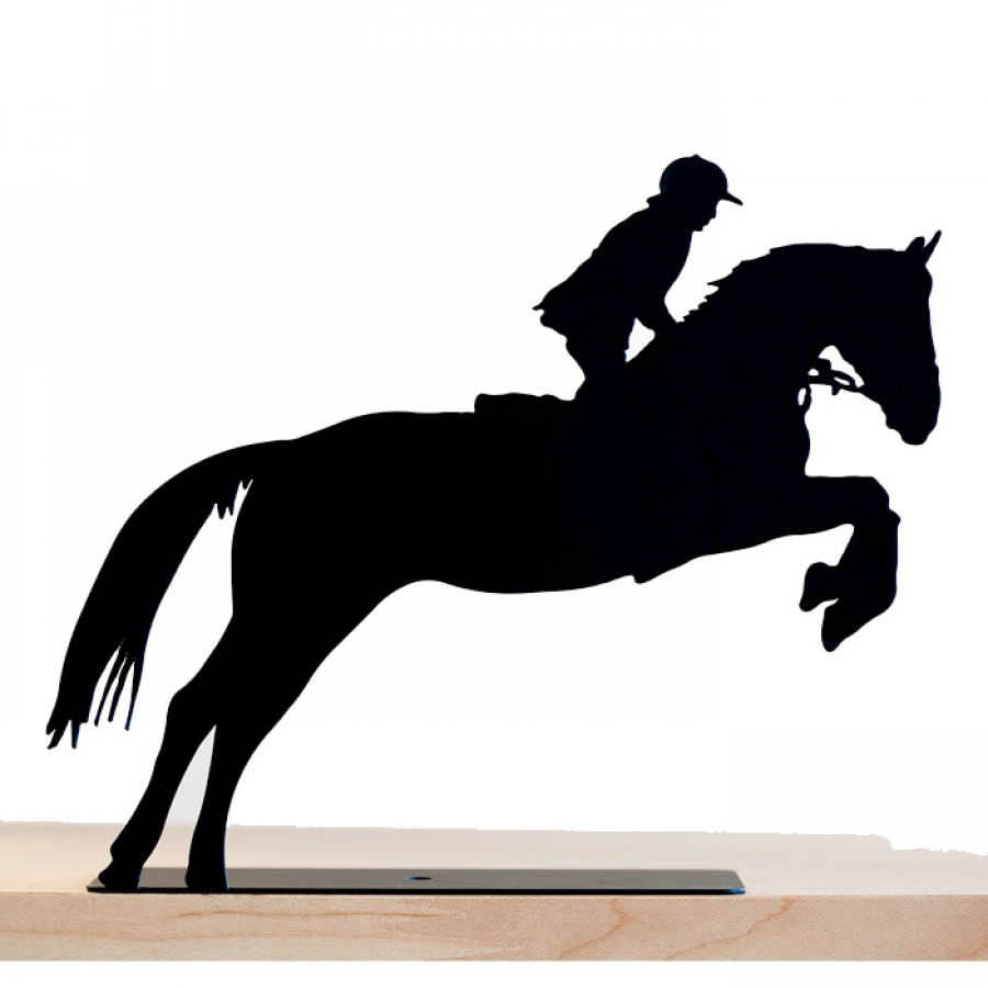 Horse and Rider Metal Sculpture