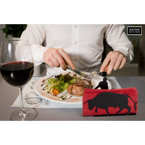 Red Napkin Holder by artoridesign