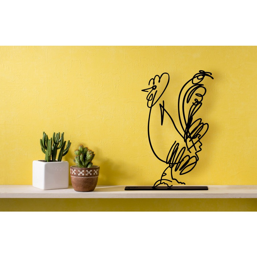 Wanetik Art - Cock Figurine - Small